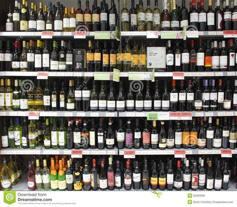 Opened Bottle Of Wine Shelf by Wine Bottles On Shelf Shelves Editorial Image Image