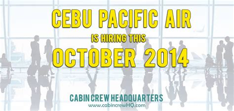 cabin crew hiring cebu pacific airlines cabin crew hiring october 2014