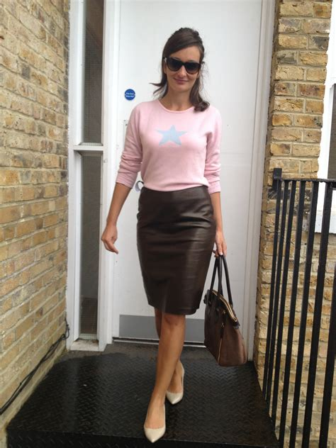 luxe leather pencil skirt romantique and rebel