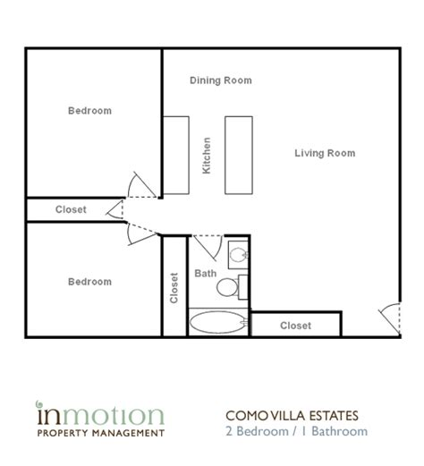 one bedroom one bath house plans inmotion property management como villa estates