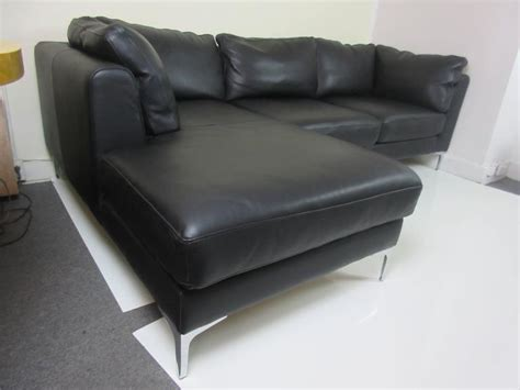 design within reach sectional design within reach nicoletti sectional sofa in black