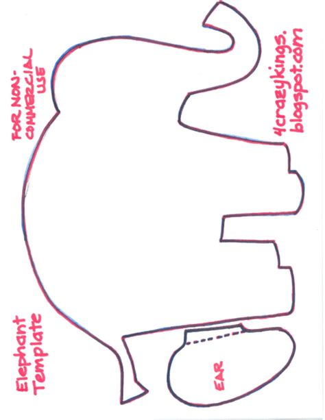 elephant cut out template elephant template new calendar template site