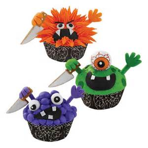 wilton halloween knife cupcake icing decorations the green head