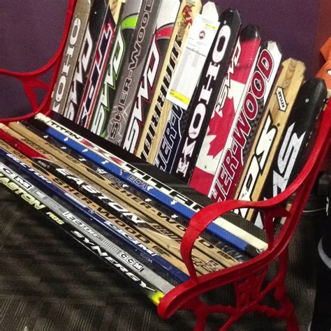 hockey bench hockey stick bench hockey pinterest gardens kid