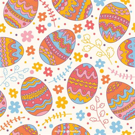 easter pattern easter seamless pattern vector free download