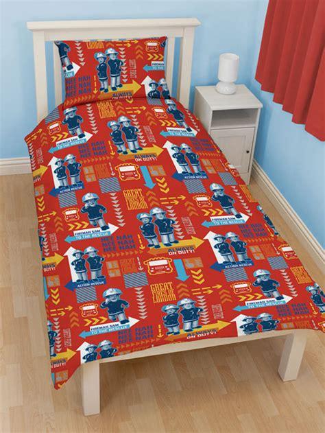 fireman comforter set fireman sam alarm single reversible duvet cover bedding set