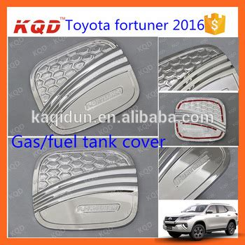 car fuel tank cover for toyota fortuner 2016 chrome fuel