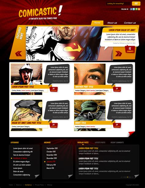 tutorial css template design create a comic book themed web design photoshop to html