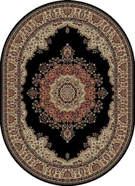 Black Oval Area Rugs by Black Medallion 5x8 Oval Area Rug