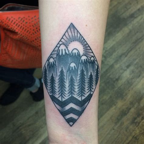 white mountain tattoo 50 sleeve mountain tattoos