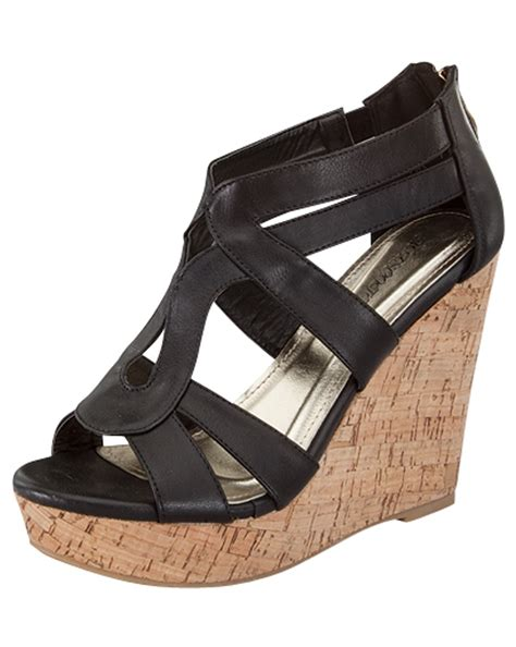 s black wedge sandals size 8 5 sandals