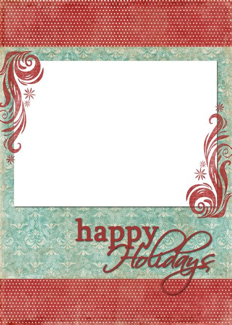 happy holidays photo card template free happy holidays blue freebies
