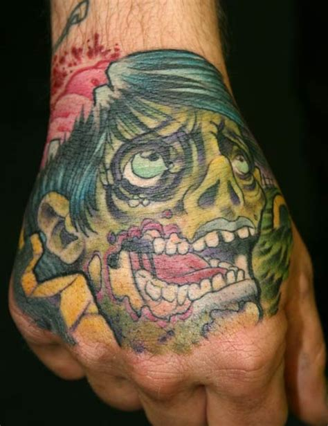 tattoo zombie hand large image leave comment