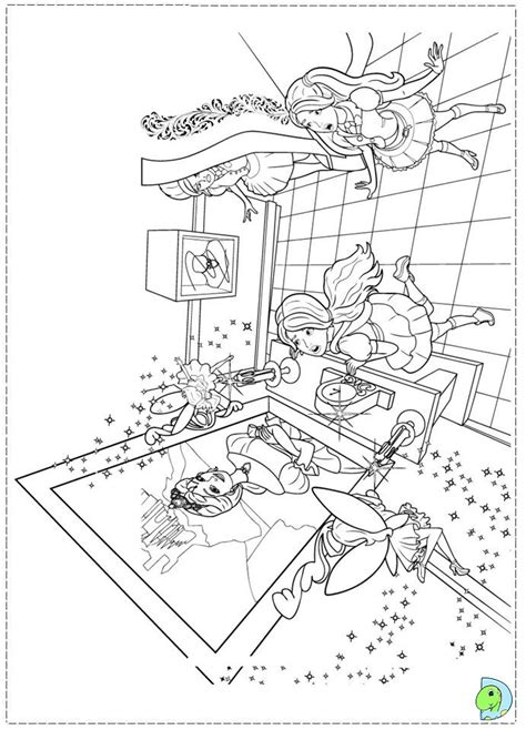 Barbie Princess Charm School Coloring Page Dinokids Org Coloring Pages Princess Charm School