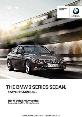 download car manuals 2009 bmw 3 series on board diagnostic system download 2015 bmw 3 series sedan owner s manual pdf 257