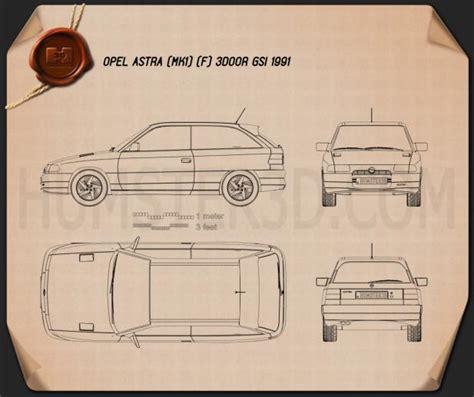 opel astra f 3 door gsi 1991 3d model humster3d opel astra f 3 door gsi 1991 blueprint humster3d