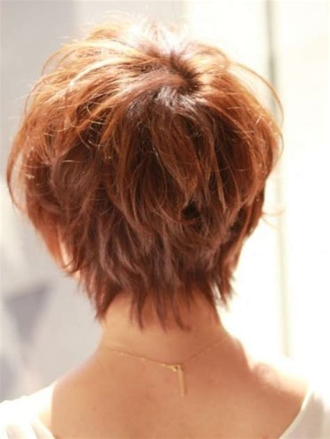 Back View Of Short Shag Hairstyles | shaggy graduated bob hair short hair styles back view