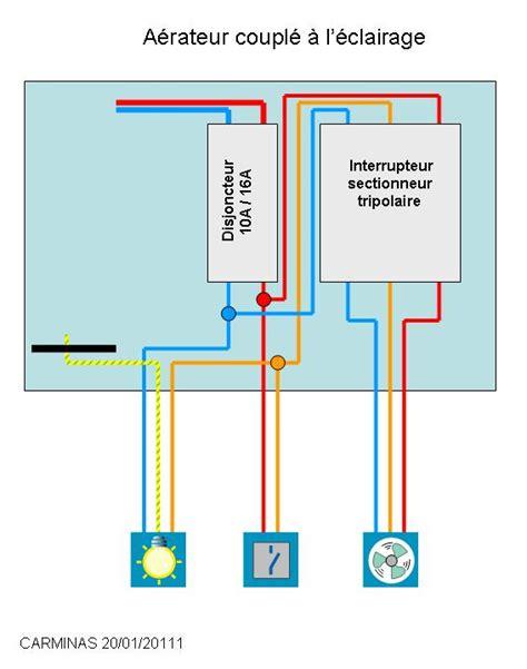 Comment Brancher Un Extracteur De Salle De Bain by Installer Extracteur Sur Deux Circuits