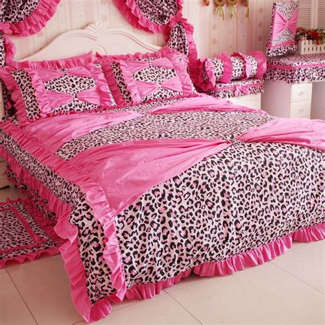 leopard bedroom set super dream leopard printed bedding set 4 piece set