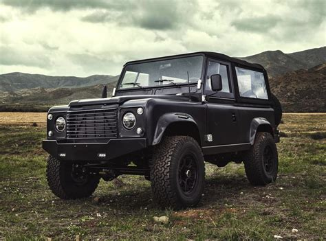 land rover defender black icon land rover defender 90 6 2 chev v8 black