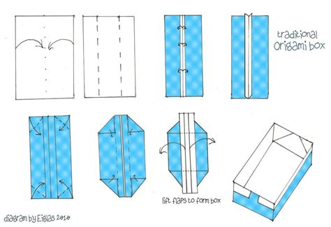 free coloring pages origami paper box crafthubs