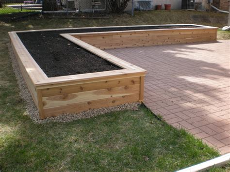 Planter Box Como Lake Carpentry Backyard Pinterest Cedar Vegetable Garden Box