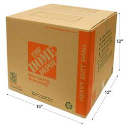 home depot moving boxes the home depot 16 in l x 12 in w x 12 in d heavy duty