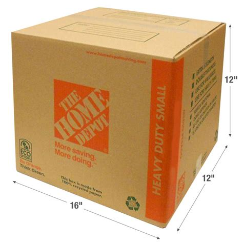 home depot small moving box the home depot 16 in l x 12 in w x 12 in d heavy duty
