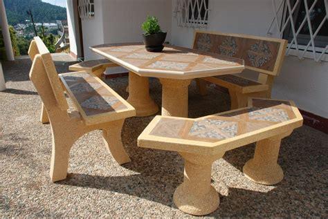 mesa piedra jardin mesa jardin en piedra exterior octogonal 186cm azulejos