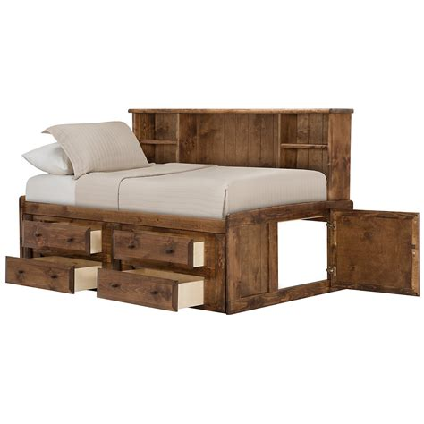 daybed with bookcase headboard city furniture laguna dark tone storage bookcase daybed