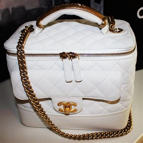 Medium Tooth Replika Cc chanel globe trotter vanity bag from fall winter 2013 spotted fashion