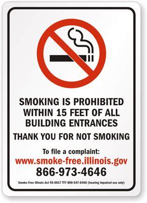 no smoking sign illinois illinois no smoking signs sku s 9443