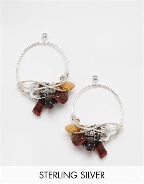 Handmade Hoop Earrings - bee bee handmade hoop earrings with tiger eye