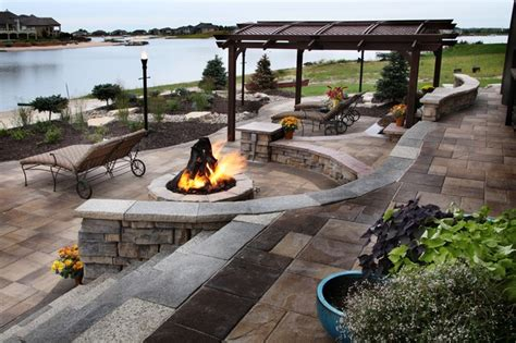 lakefront property traditional patio omaha