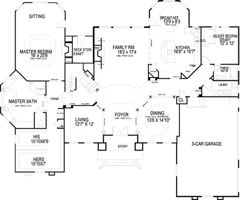 5 bedroom house plans 2 story luxury style house plans 3681 square foot home 2 story 5 bedroom and 4 bath 3 garage