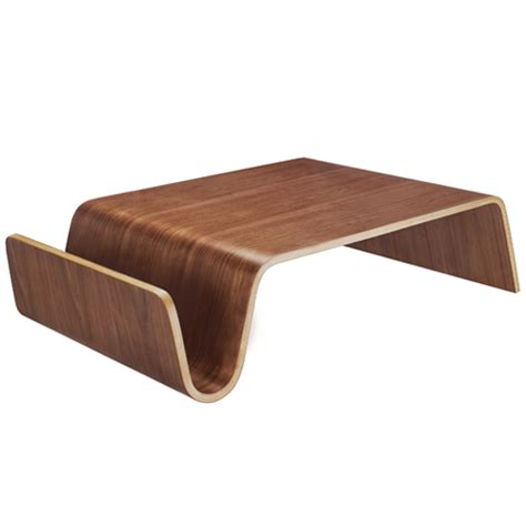 modern walnut ply funky wave coffee table 163 209 99