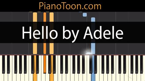 hello keyboard tutorial adele hello by adele piano tutorial by pianotoon com youtube
