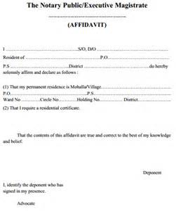 Certification Of Marriage Letter What Is The Format Of Affidavit For Address Proof Download