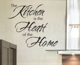 Wall sticker decal quote vinyl art lettering the heart of the home