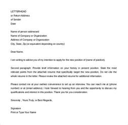 Format For A Letter Of Intent by Simple Letter Of Intent Templates 18 Free Sle Exle Format Free Premium Templates