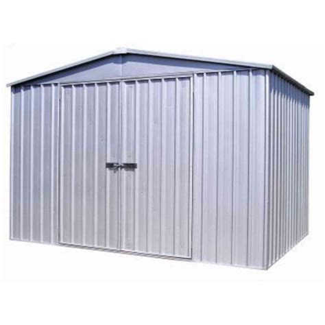absco 10 ft x 10 ft highlander zincalume storage shed