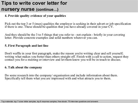 cover letter for nursery nursery cover letter
