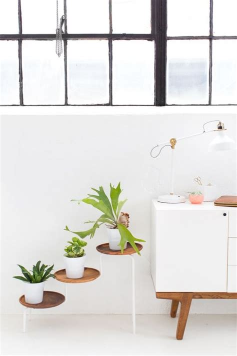 ikea plant stand hack 15 diy plant stands to fill your home with greenery