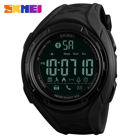 Jam Smartwatch I One skmei jam tangan olahraga smartwatch bluetooth 1316 black jakartanotebook