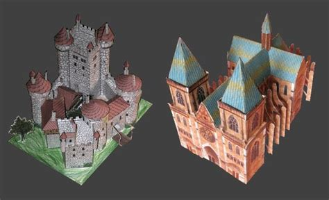 Paper Craft Castle - cathedral and castle paper models jpg