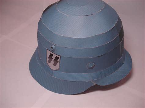 Helmet Papercraft - 1 1 stahlhelm papercraft by rocketmantan on deviantart