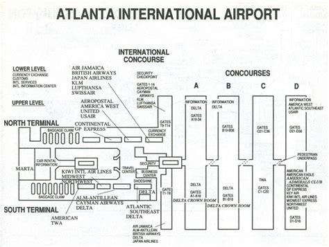airport in atlanta map atlanta airport map terminal s atlanta airport terminal