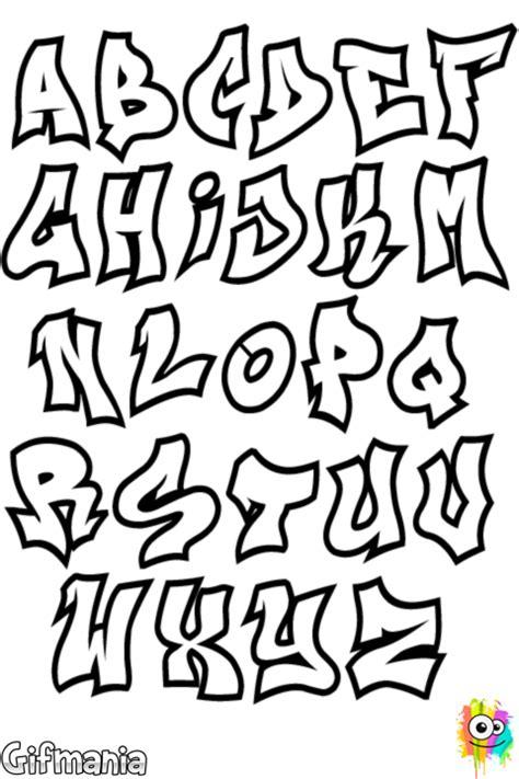 lettere da disegnare immagine da colorare alfabeto graffiti
