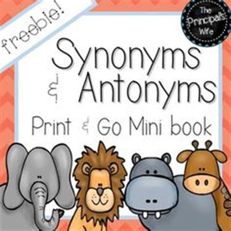 synonym words with o study page antonym go fish this is a to get students