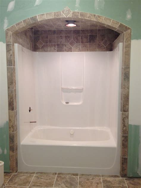 bathtub surrounds that look like tile bathtub tile like the idea of tile around and above
